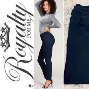 Royalty For Me Faded Black Butt Shaping Jeans